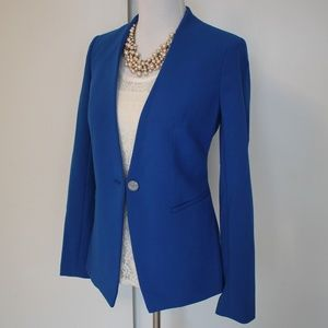 THE LIMITED Size Small Tall Blue Blazer Jacket